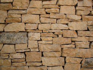 Bricks stacked up