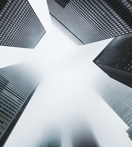 Image of tall skyscrapers